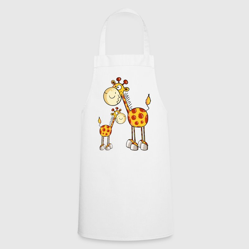Mum and baby giraffe  Aprons - Cooking Apron