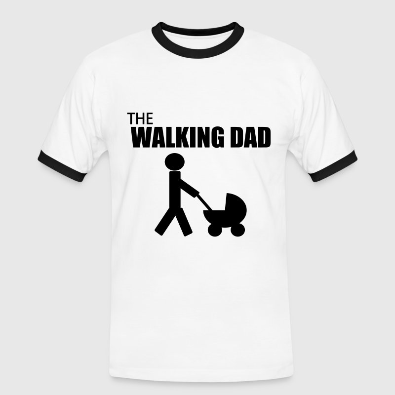the walking dad Tee shirts - T-shirt contrasté Homme