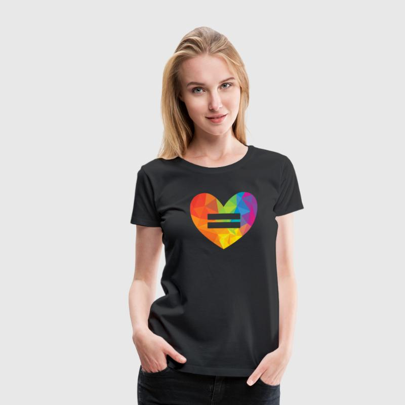 Rainbow Equality Heart T-Shirts - Women's Premium T-Shirt