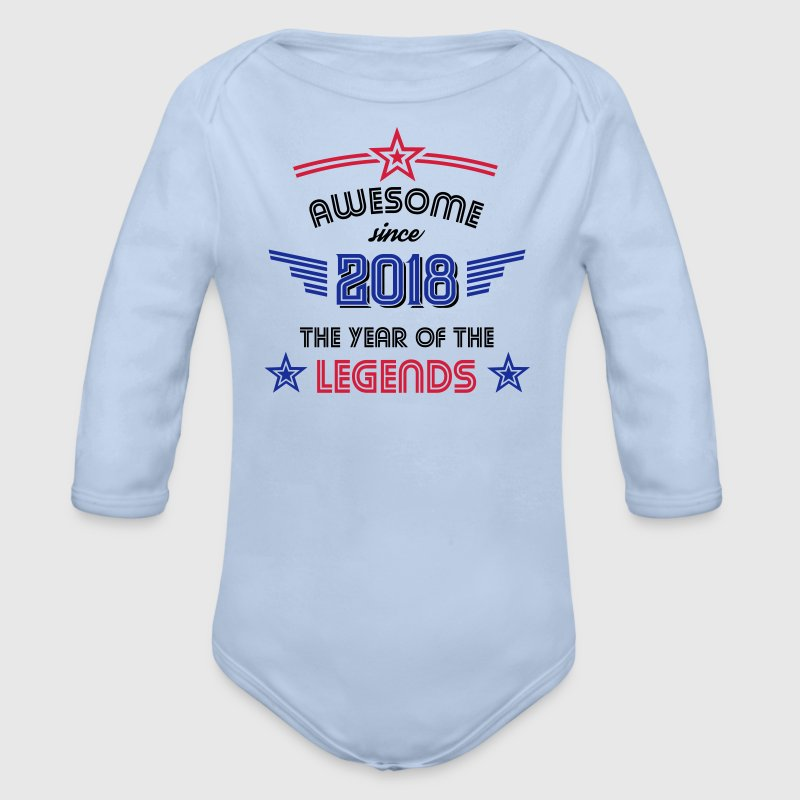 Awesome since 2018 Baby Bodys - Baby Bio-Langarm-Body