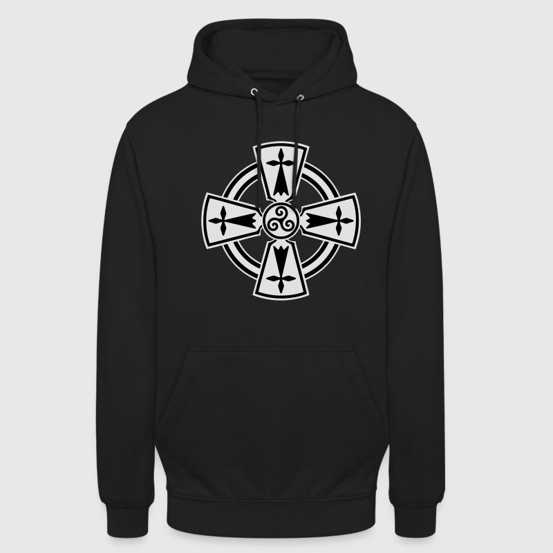 Breizh Celtic cross Sweat-shirts - Sweat-shirt à capuche unisexe
