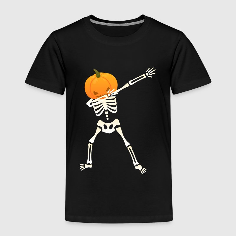 Skeleton Pumpkin | Dab Dance | Halloween Design T-shirts - Premium-T-shirt barn