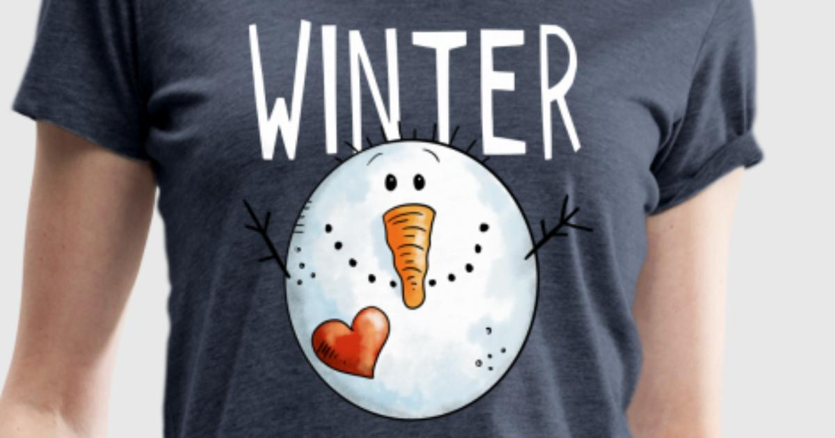 winter schneemann schneem nner schnee k lte t shirt spreadshirt. Black Bedroom Furniture Sets. Home Design Ideas