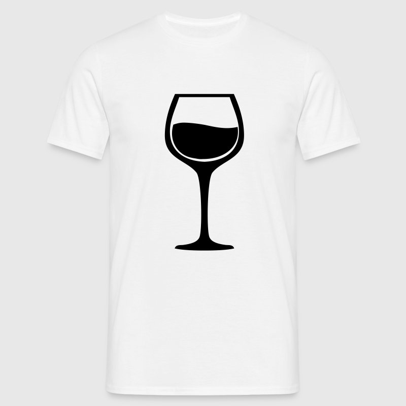 Wine glass - Männer T-Shirt