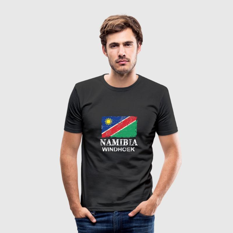 Namibia Flag T-Shirts - Männer Slim Fit T-Shirt