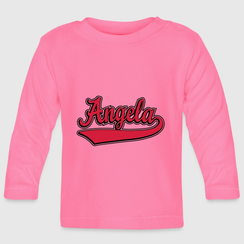 Angela - Name as a sport swash. Long Sleeve Shirts - Baby Long Sleeve T-Shirt