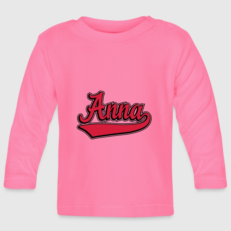 Anna - Name as a sport swash.  Long Sleeve Shirts - Baby Long Sleeve T-Shirt