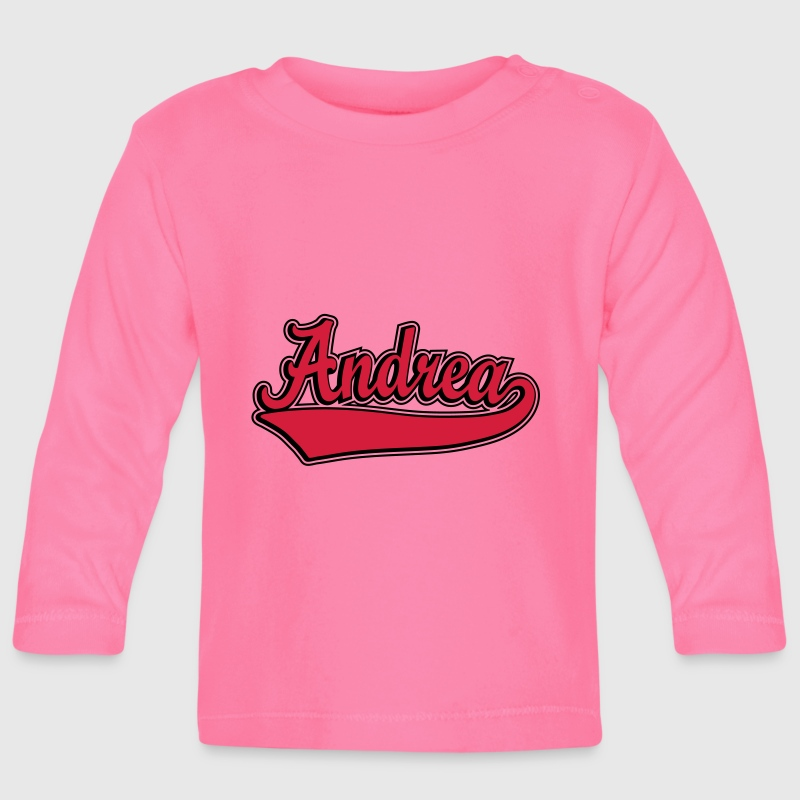 Andrea - Name as a sport swash Long Sleeve Shirts - Baby Long Sleeve T-Shirt