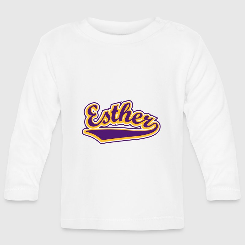 Esther - T-shirt Personalised with your name Long Sleeve Shirts - Baby Long Sleeve T-Shirt