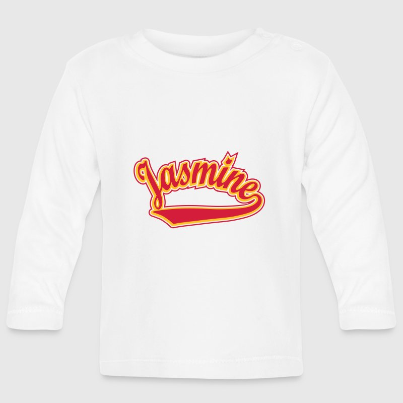 Jasmine - T-shirt Personalised with your name Long Sleeve Shirts - Baby Long Sleeve T-Shirt