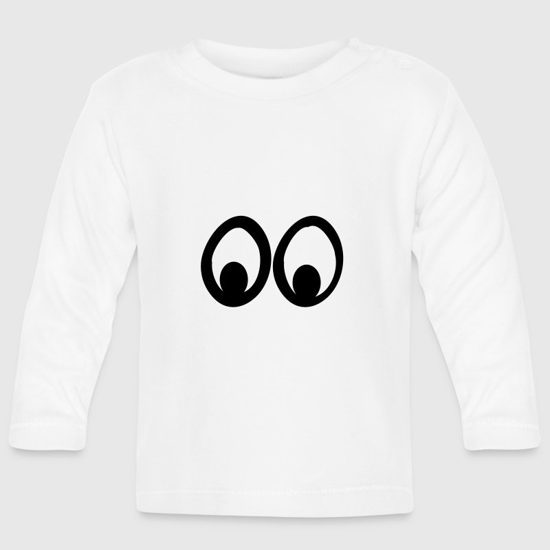 Funny Eyes, Cartoon Eyes, Lustige Augen, Trickfilm Long Sleeve Shirts - Baby Long Sleeve T-Shirt
