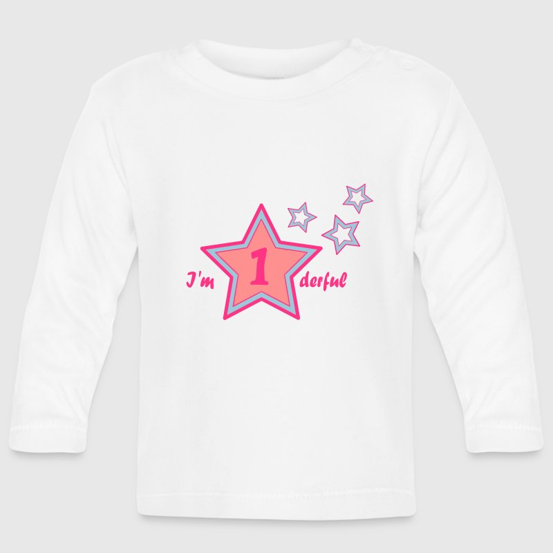I'm onederful / wonderful firts birthday Long Sleeve Shirts - Baby Long Sleeve T-Shirt