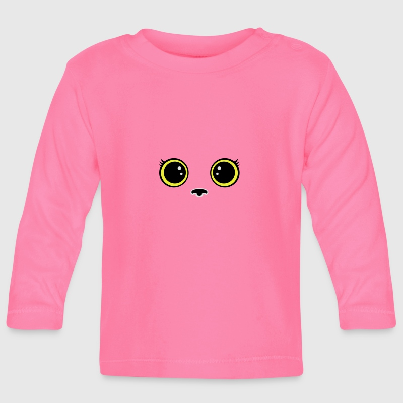Gatito kitty kawaii Manga larga - Camiseta manga larga bebé