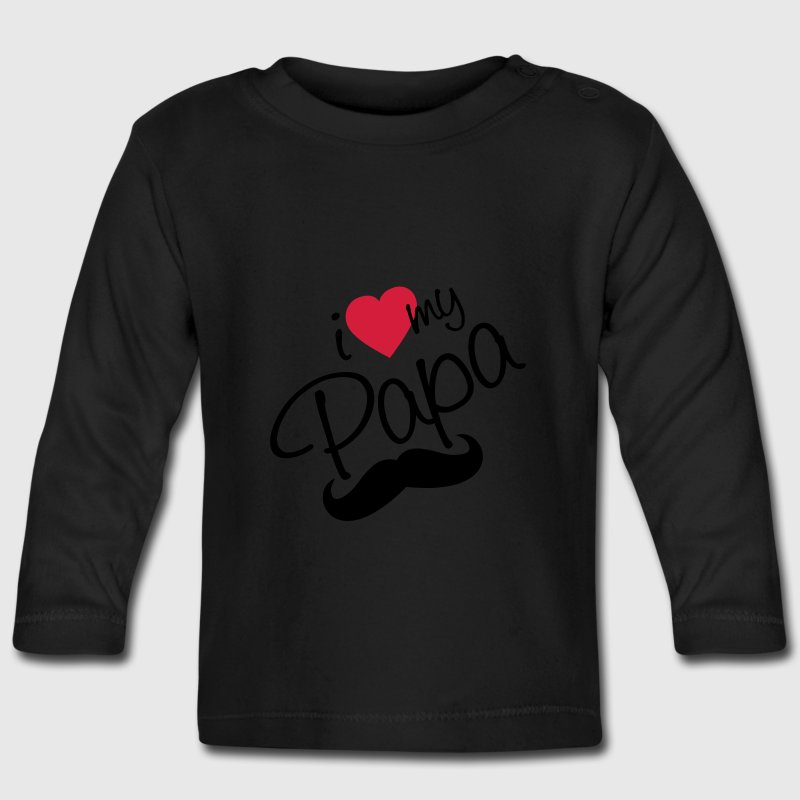 I Love Papa - Happy Farther's Day baby shirts met lange mouwen - T-shirt