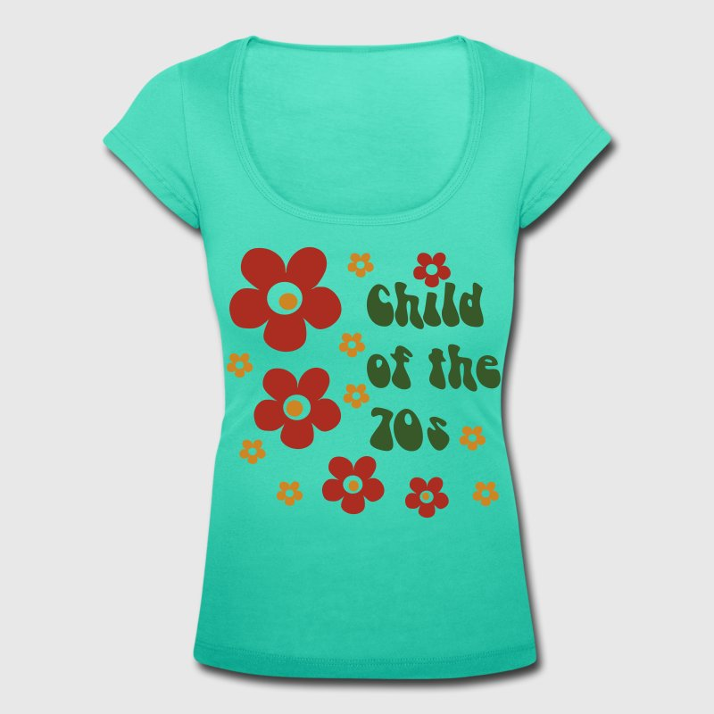 Smaragdgrün Child of the 70s T-Shirts - Frauen T-Shirt mit U-Ausschnitt