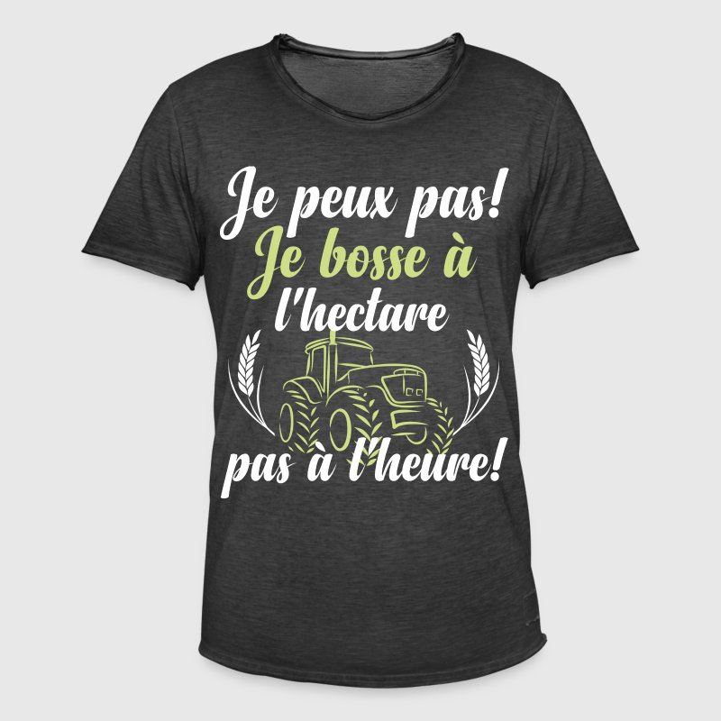 Je bosse à l'hectare Tee shirts - T-shirt vintage Homme