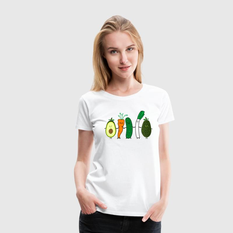 vegetable friends T-skjorter - Premium T-skjorte for kvinner