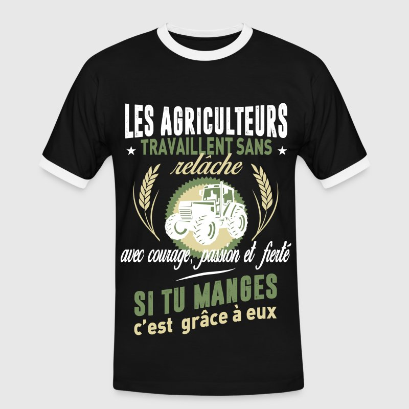 Les agriculteurs Tee shirts - T-shirt contraste Homme