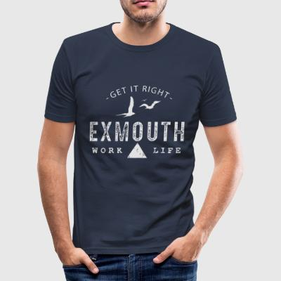 Exmouth Work Life Balance - Men's Slim Fit T-Shirt