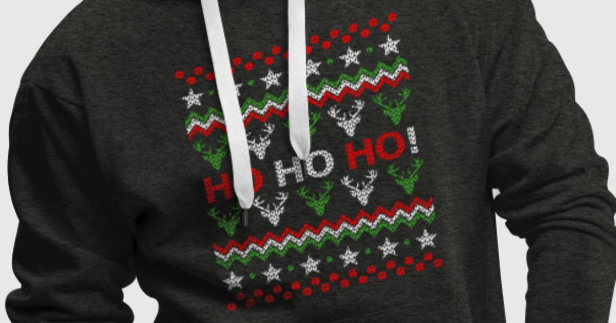 lustiges weihnachtsgeschenk strickpullover optik hoodie. Black Bedroom Furniture Sets. Home Design Ideas
