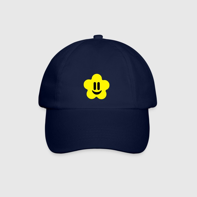 Blue/blue flower power smiley Caps & Hats - Baseball Cap