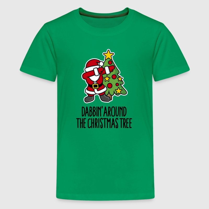 Dabbin' around the Christmas tree - Text Tee shirts - T-shirt Premium Ado
