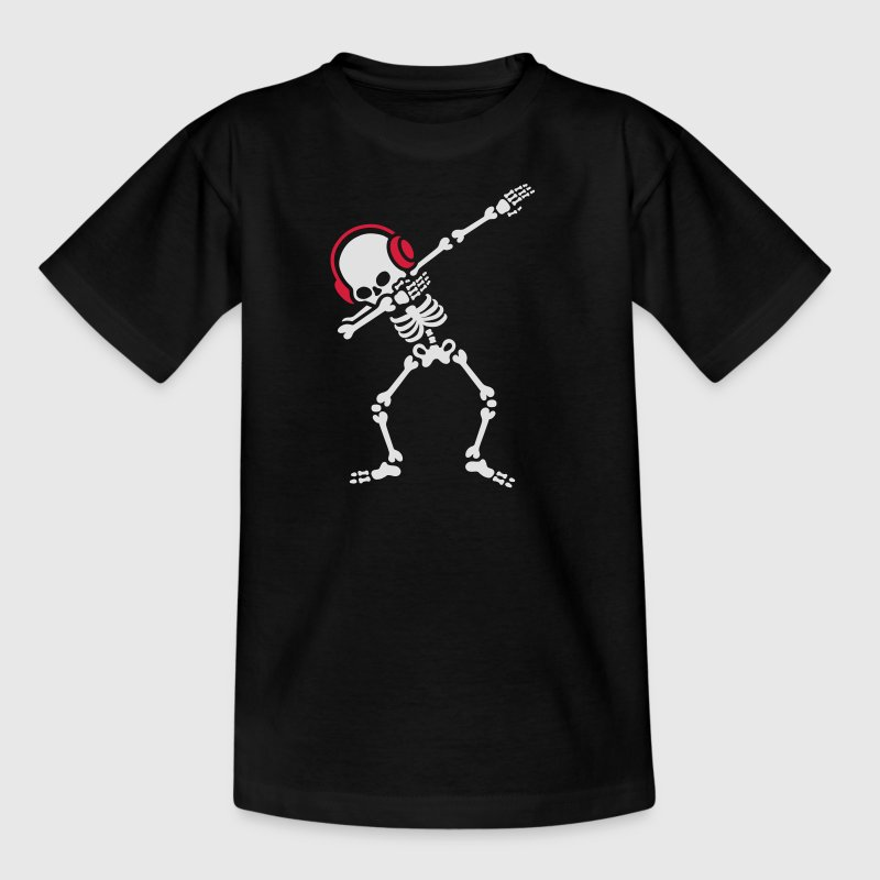 Skelton Dab Dabben Headphones Music T-Shirts - Teenager T-Shirt