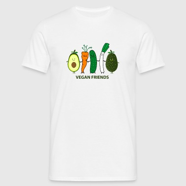 vegan friends Bamser - Herre-T-shirt
