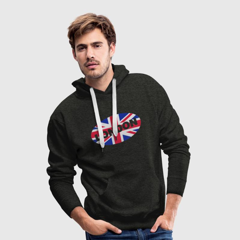Grün London City Great Britain - eushirt.com Pullover - Männer Premium Hoodie