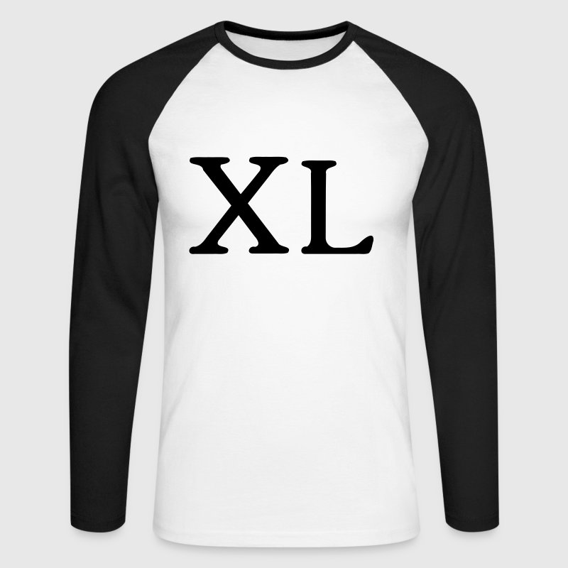 40 years - Roman numerals - Men's Long Sleeve Baseball T-Shirt