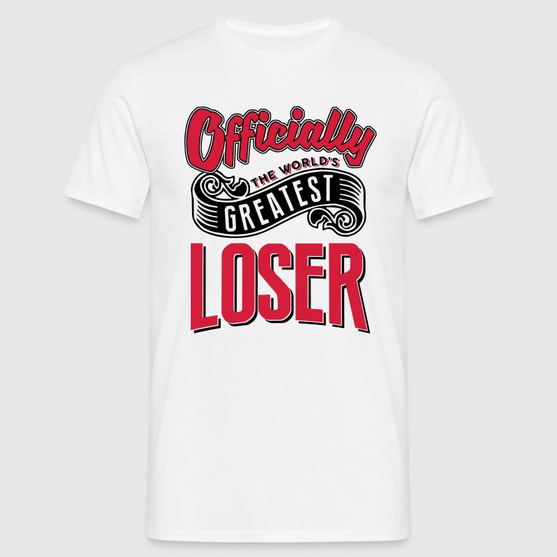 Officially greatest loser worlds - Men's T-Shirt
