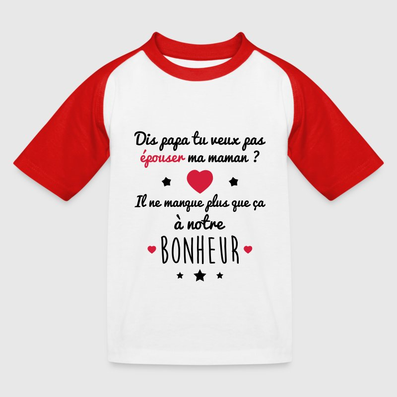 tee shirt papa pouser maman bonheur id e cadeau mariage spreadshirt. Black Bedroom Furniture Sets. Home Design Ideas