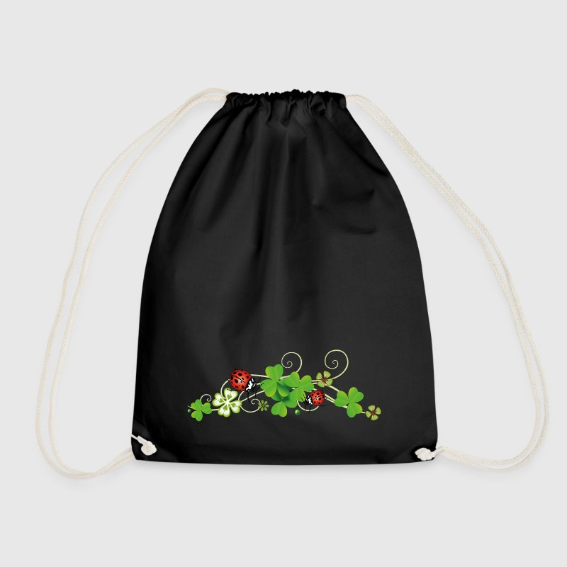 Four leaf clover design. New years eve party. Bags & Backpacks - Drawstring Bag