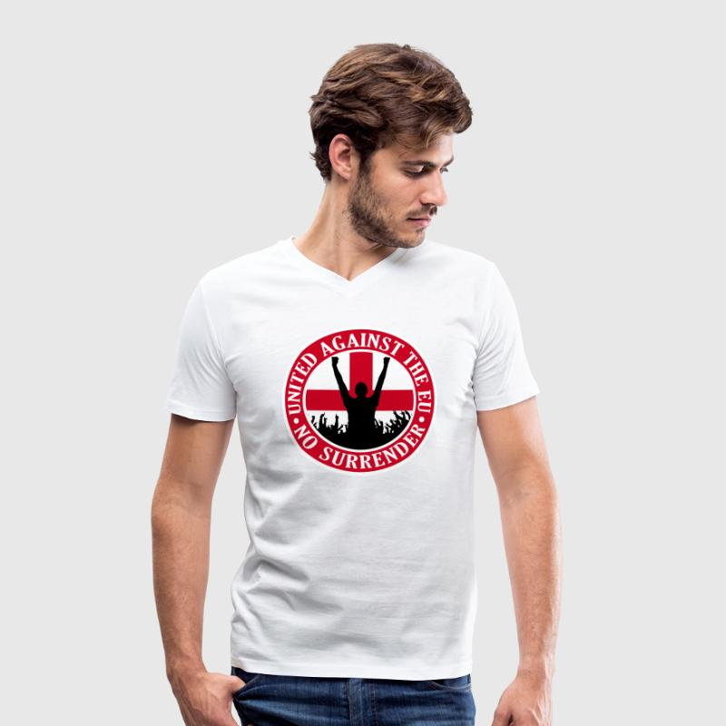 Anti EU England - No Surrender T-Shirts - Men's Organic V-Neck T-Shirt by Stanley & Stella