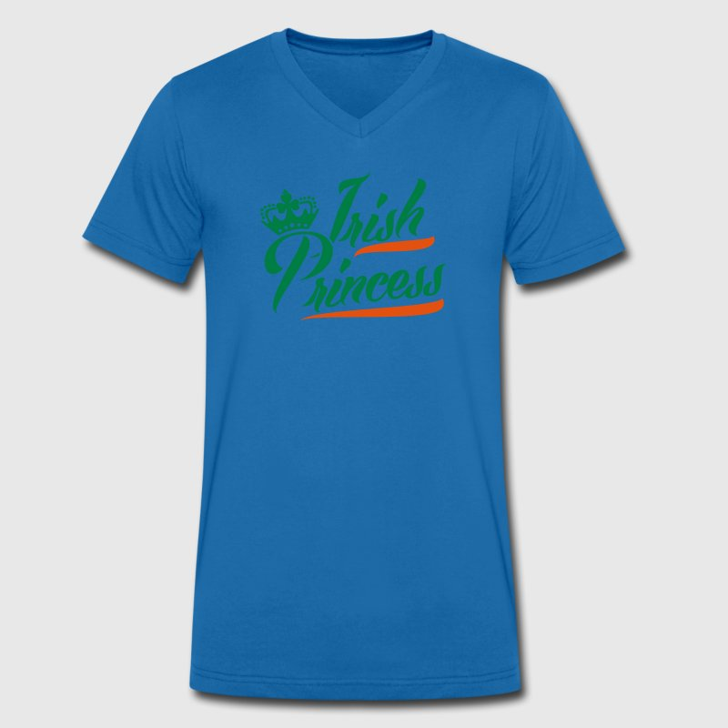 Irish Princess T-Shirts - Men's Organic V-Neck T-Shirt by Stanley & Stella