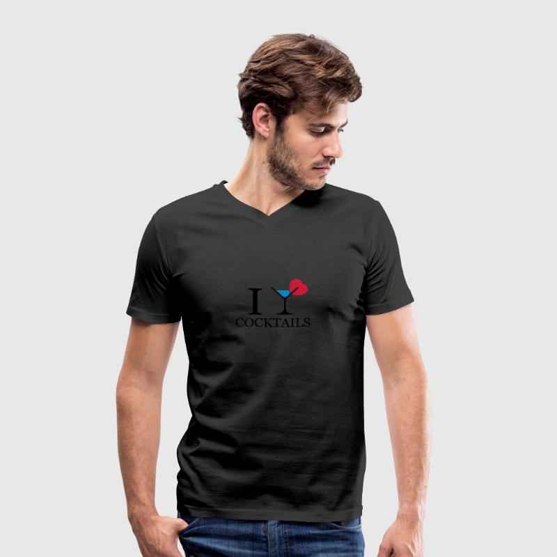 I love cocktails T-Shirts - Men's Organic V-Neck T-Shirt by Stanley & Stella
