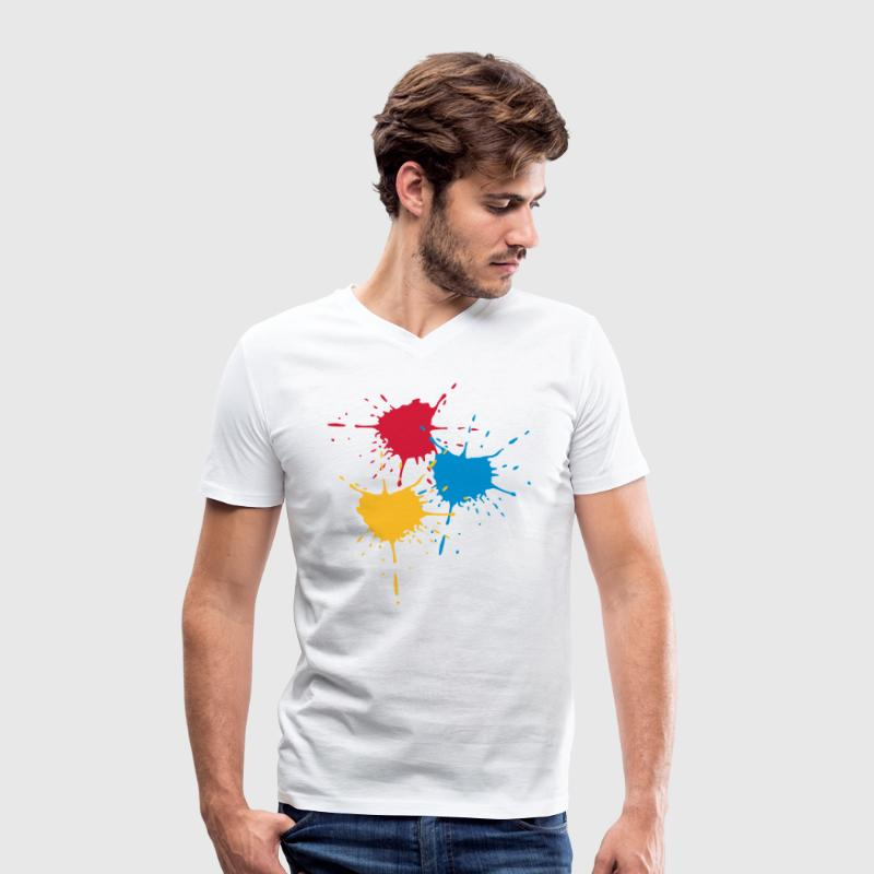 3 basic colors - Splash - V3 T-Shirts - Men's Organic V-Neck T-Shirt by Stanley & Stella