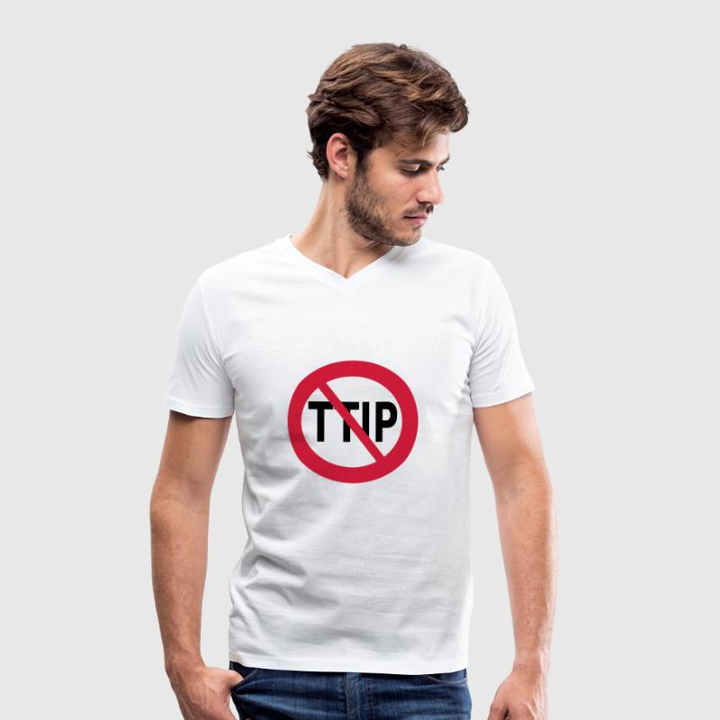 STOP TTIP T-Shirts - Men's Organic V-Neck T-Shirt by Stanley & Stella