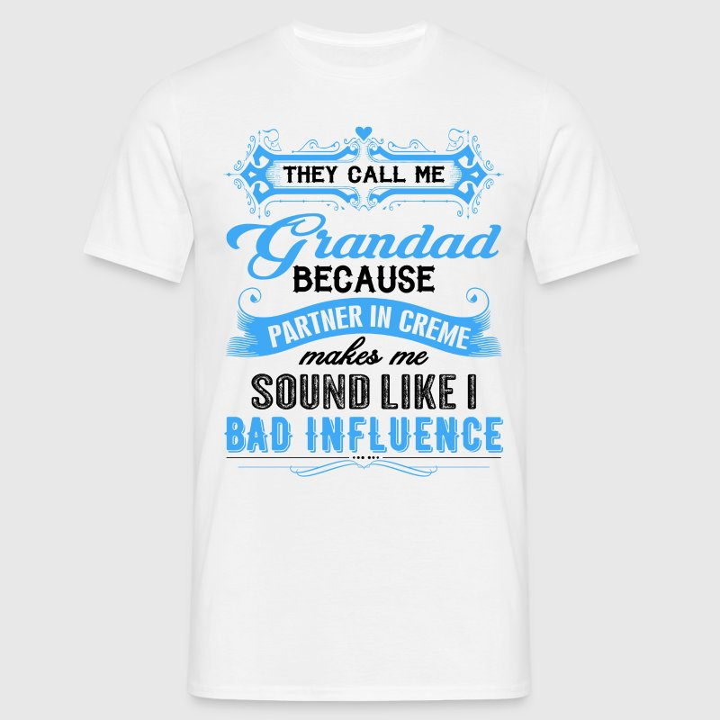 They Call Me Grandad Partner In Crime Funny T-Shirts - Men's T-Shirt