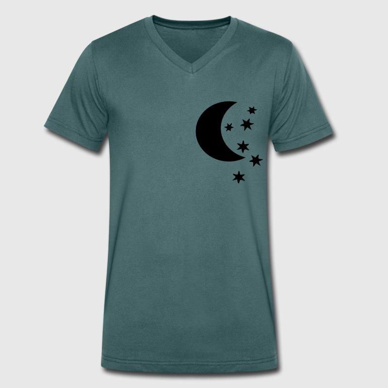 STAR AND MOON Men's V-Neck T-Shirt - Men's Organic V-Neck T-Shirt by Stanley & Stella