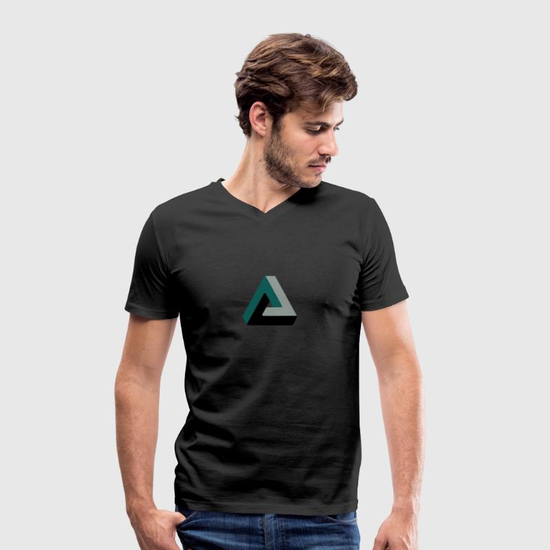 triangle optical illusion T-Shirts - Men's Organic V-Neck T-Shirt by Stanley & Stella