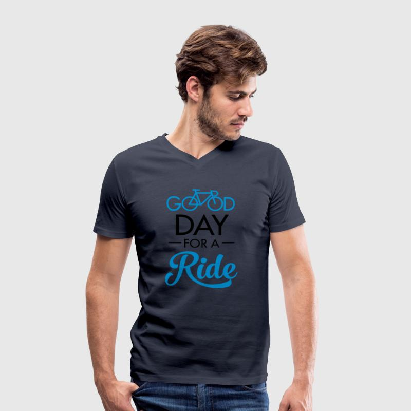 Good Day For A Ride Tee shirts - T-shirt bio col V Stanley & Stella Homme
