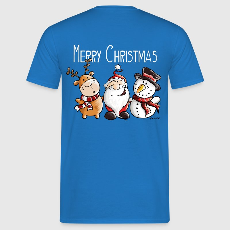 Merry christmas santa claus reindeer and snowman t shirt Merry christmas t shirt design