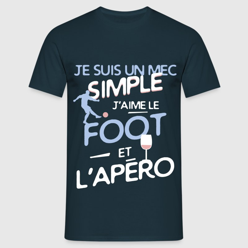 Football - un mec simple Tee shirts - T-shirt Homme