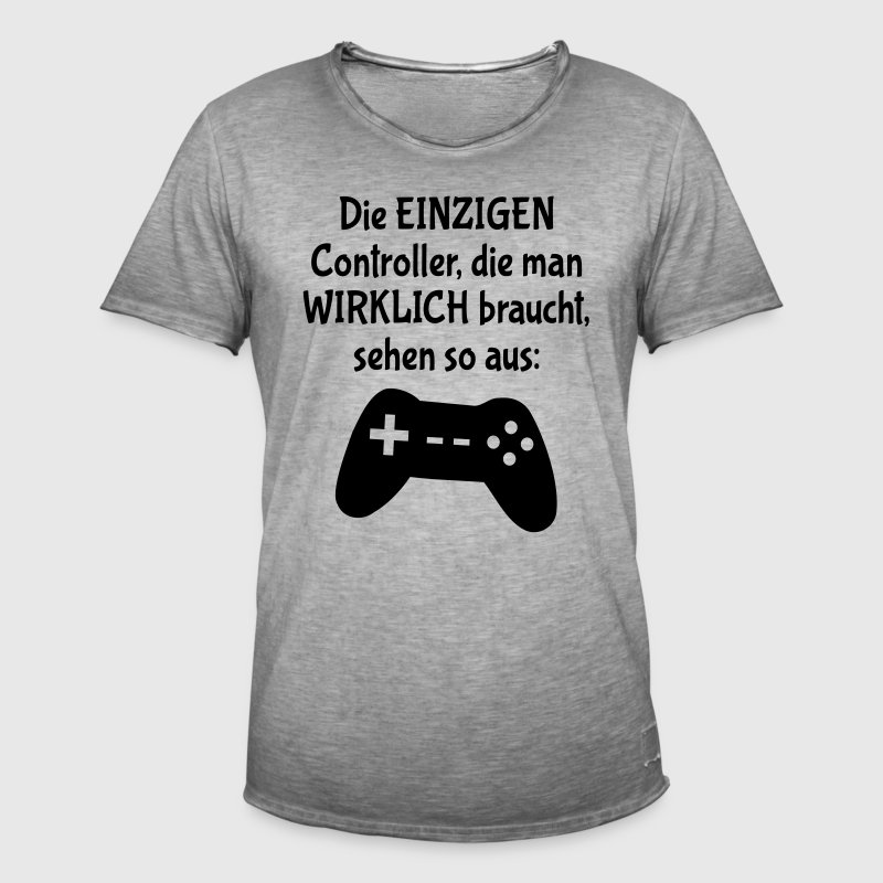 controller gamer bwler spruch m nner vintage t shirt spreadshirt. Black Bedroom Furniture Sets. Home Design Ideas