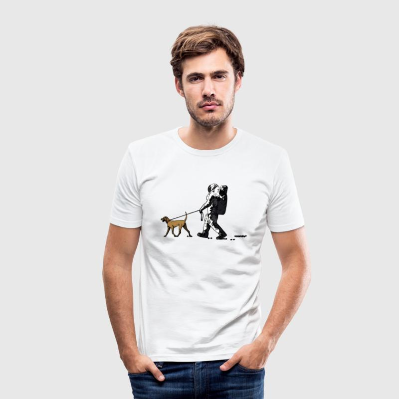 White moonwalk T-Shirts - Men's Slim Fit T-Shirt