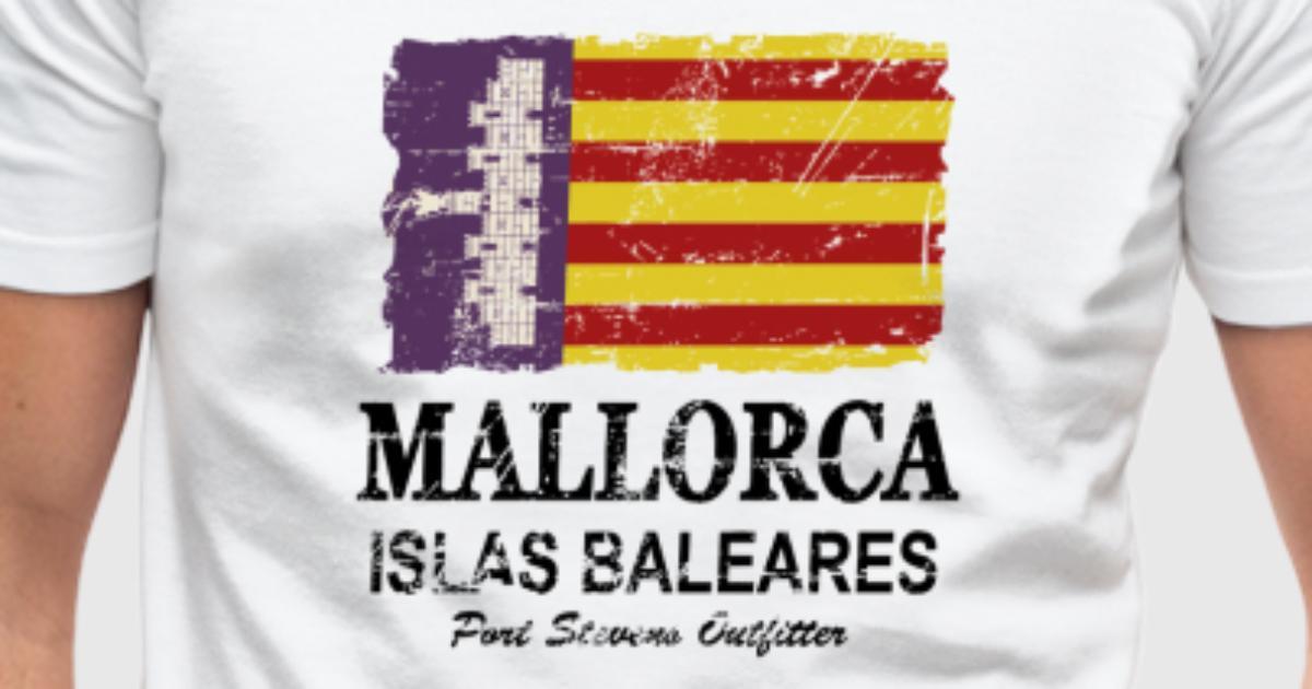 Mallorca Vintage Flag T shirt