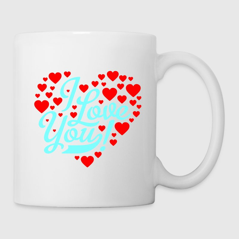 Blanc i love you Tasses - Mug blanc