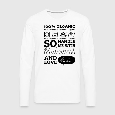 Fashionable Typographic Laundry Tag TLC i love heart t-shirts for lovers birthday valentines day mothers day stag do T-Shirts - Men's Premium Longsleeve Shirt