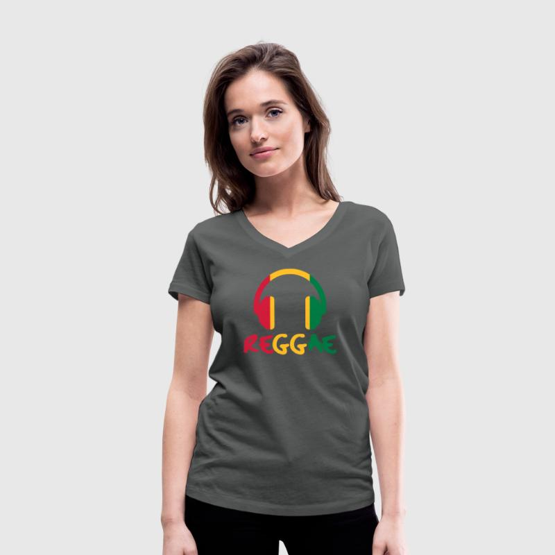 Reggae Music T-Shirts - Women's Organic V-Neck T-Shirt by Stanley & Stella
